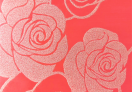 3D Glitter Paper - Big Rose Pattern